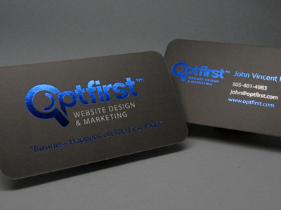 foil business cards - Foil Stamped Business Cards