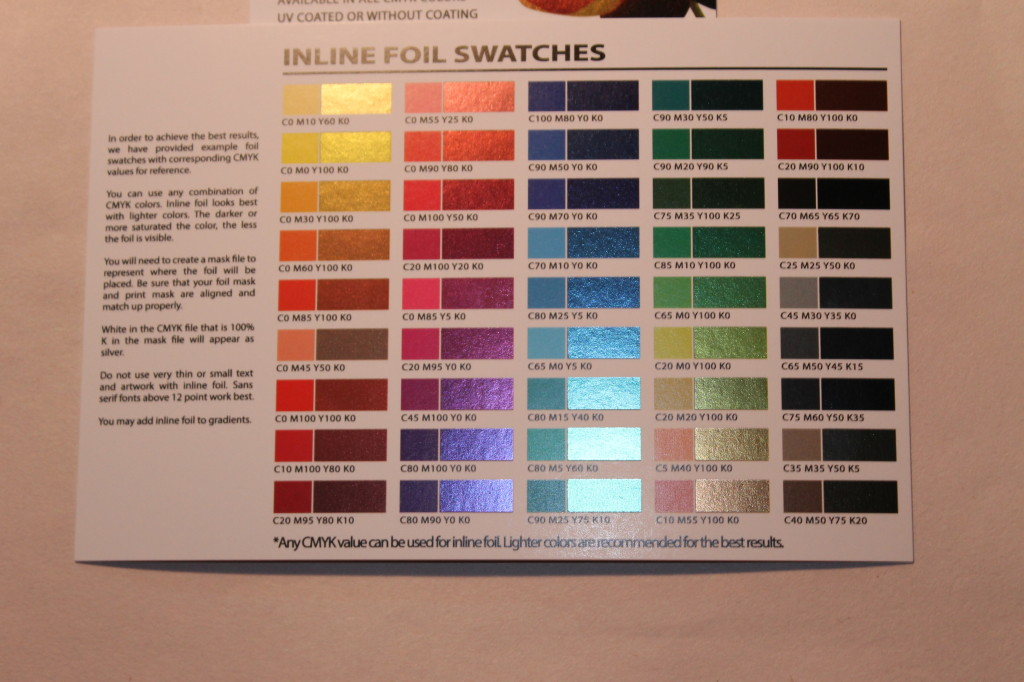 Wholesale Inline Foil Printing with Color Trade Print | Discount ...